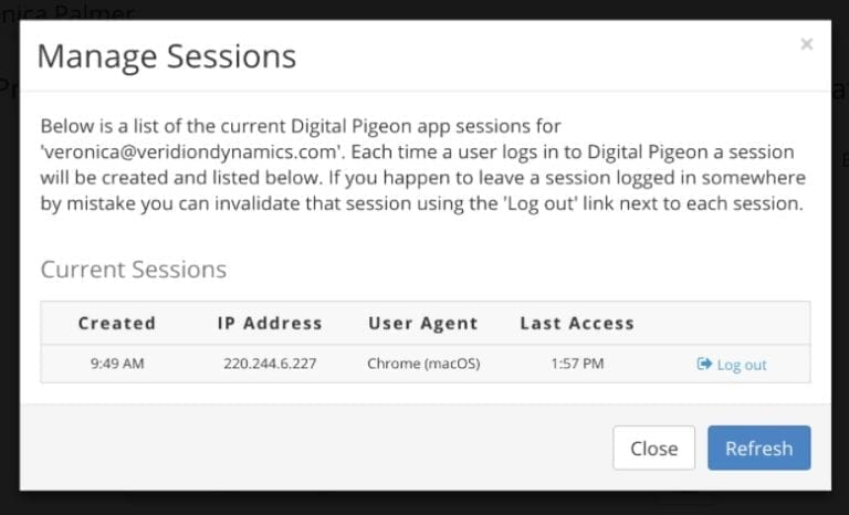 Manage sessions