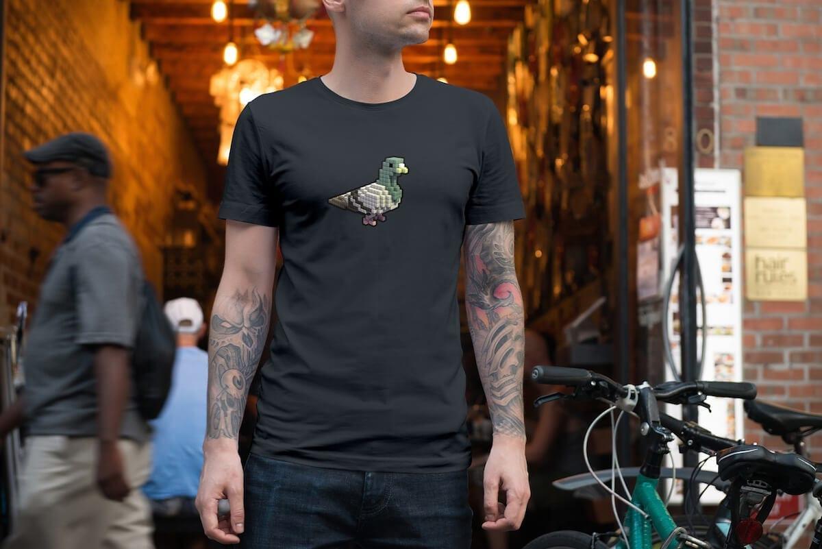 Dark-Gray-Digital-Pigeon-Tshirt
